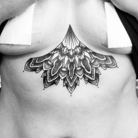 Tattoos - Mandala Sternum Tattoo - 132882