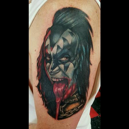 Tattoos - Gene Simmons from Kiss Tattoo - 122246