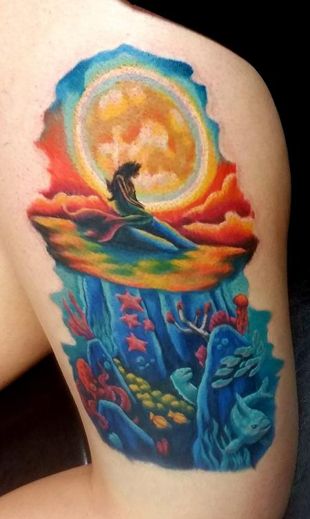 Jesse Neumann - Little Mermaid Tattoo