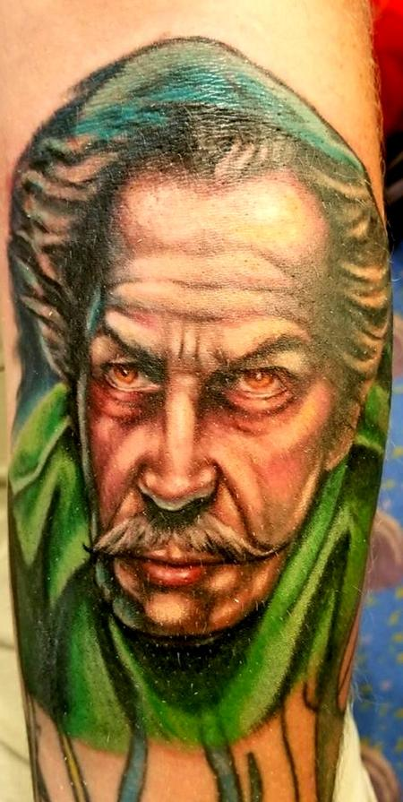 Jesse Neumann - Vincent Price portrait tattoo
