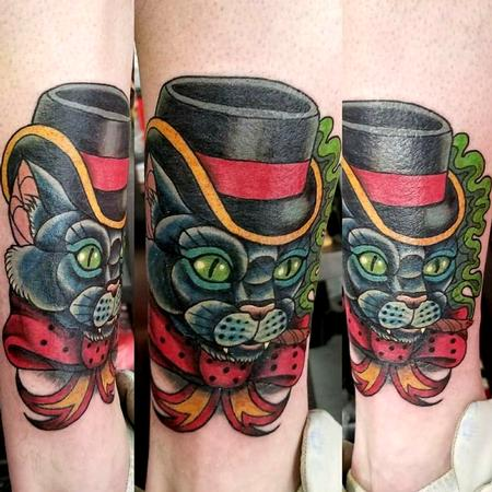 Tattoos - top hat cat - 141336