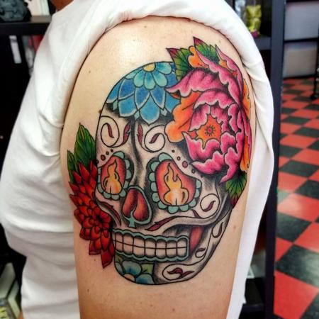 Jesse Neumann - Sugar Skull Tattoo