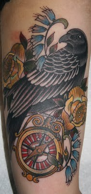 Tattoos - Crow and compass - 52184
