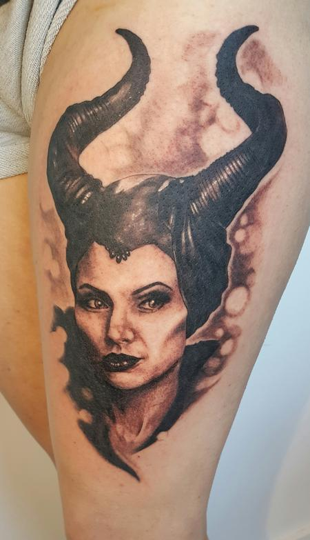 Tattoos - Maleficent Portrait Tattoo  - 120646