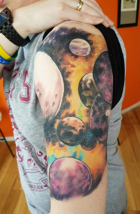 Tattoos - Outer Space Dr Who Tattoo - 122737