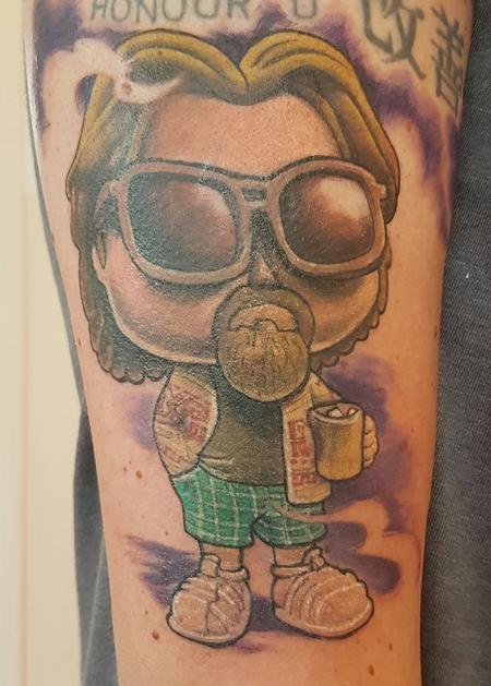 Tattoos - The Dude Abides... Big Lebowski Color Tattoo - 122781