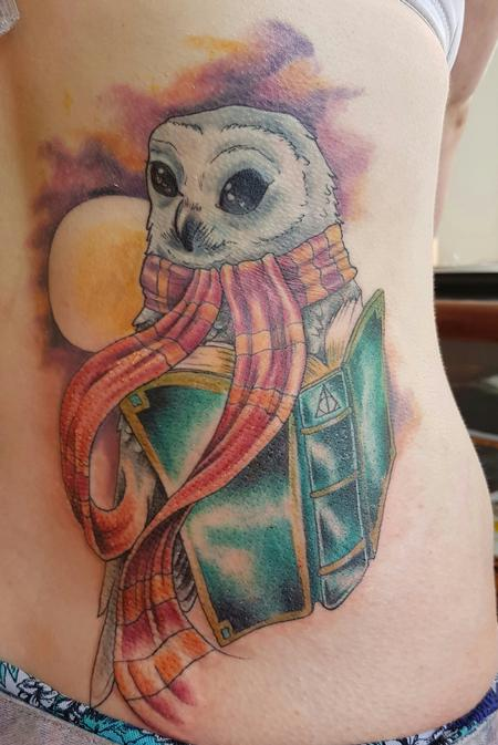 Tattoos - Harry Potter Hedwig Tattoo - 123235