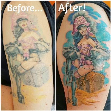 Tattoos - Pirate Betty Pinup Rework - 124982