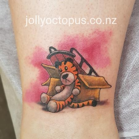 Tattoos - Calvin and Hobbes Color Tattoo - 126503