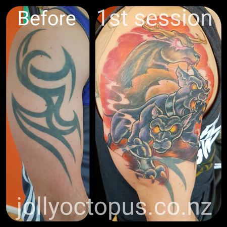 Tattoos - Cerebus Cover Up Tattoo - 127036