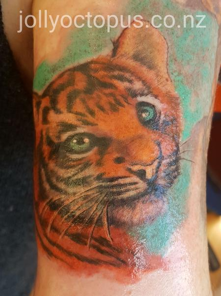 Tattoos - Adorable Baby Tiger Tattoo - 128720