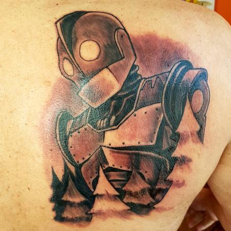 Tattoos - Iron Giant Black and Grey Tattoo - 129981