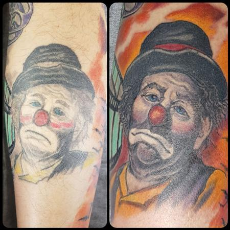 Tattoos - Clown Portrait Cover-up/Rework - 131083