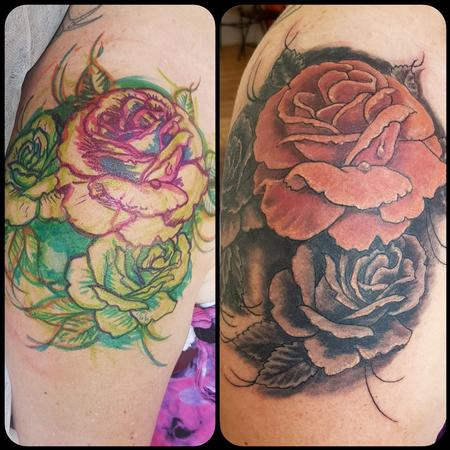 Tattoos - Shoulder Cap Rose Tattoo - 131764