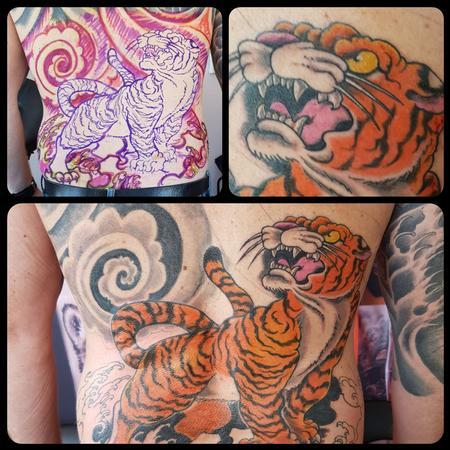 Steve Malley - Japanese Tiger Back Tattoo