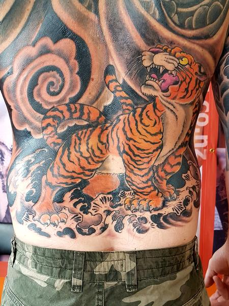 Steve Malley - Japanese Tiger Back Tattoo