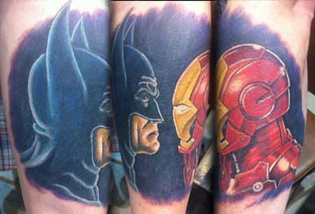 Tattoos - Batman vs. Ironman - 111571