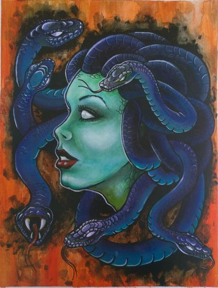 Chloe DeBoo - Medusa Color Painting Acrylic on Board