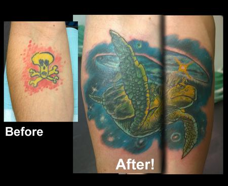 Tattoos - Terry Pratchett Discworld Coverup Tattoo - 112191