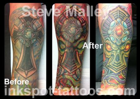 Tattoos - Cthulhu Alien Cover Up Tattoo  - 112238
