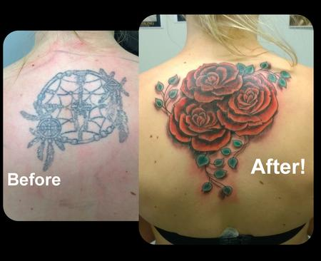 Steve Malley - Feminine Rose Coverup Tattoo
