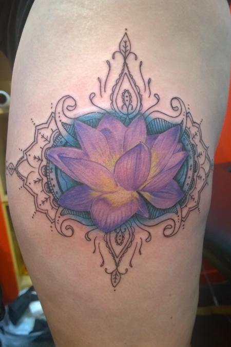 Tattoos - Lotus Color Tattoo  - 111914