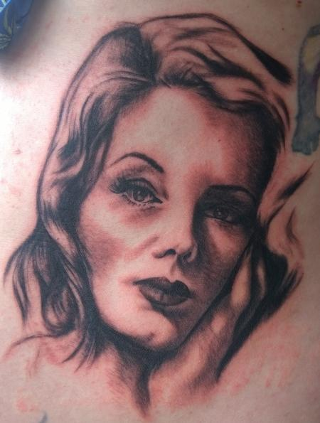 Tattoos - Film Noir Beauty Portrait Tattoo - 113891
