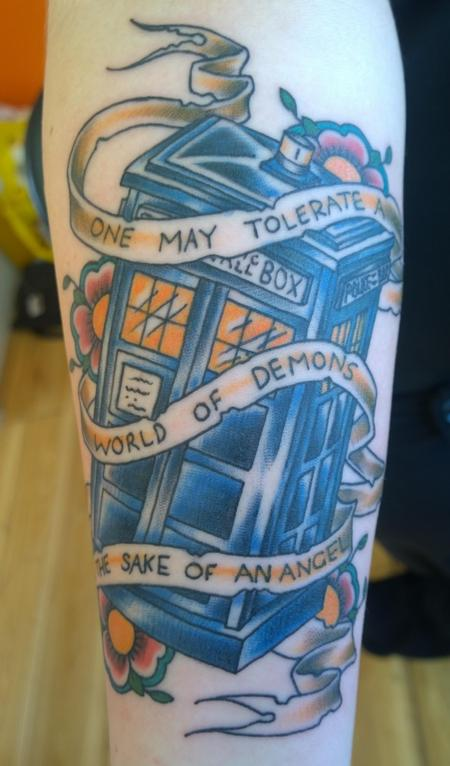 Tattoos - Dr Who Tardis Tattoo  - 114911