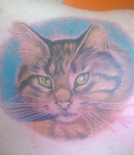 Tattoos - Pet Cat Portrait Tattoo  - 119947
