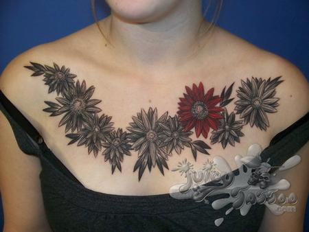 Tattoos - Flower Chest Piece - 102288
