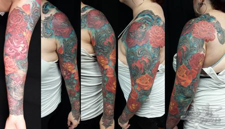 Tattoos - Rose Sleeve - 107868
