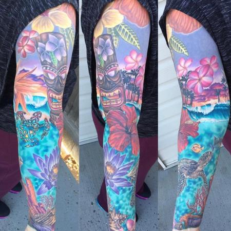 Tattoos - Hawaiian Sleeve - 142163