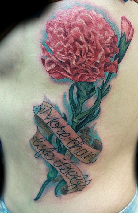 Tattoos - Carnation tattoo - 99042