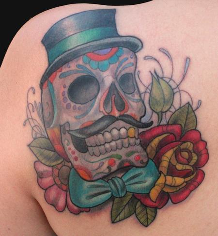 Tattoos - Day of the dead skull tattoo - 75977