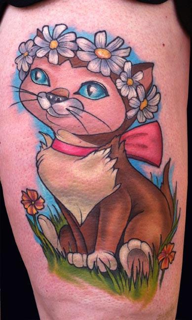 Tattoos - Dinah Cat Tattoo - 89393