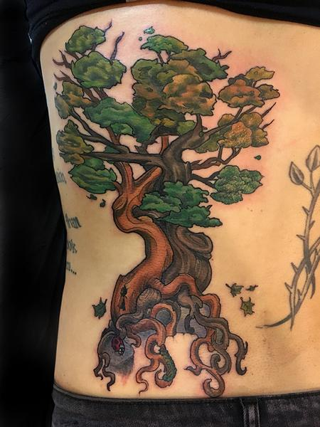 Tattoos - Intertwining Trees and Lock - 132591