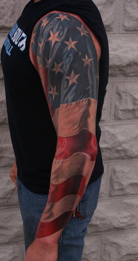 Larry Brogan - American Flag Sleeve