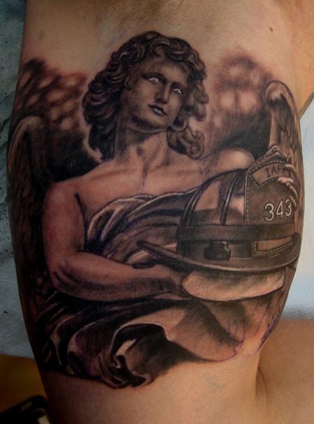 Tattoos - Fireman Angel - 97641