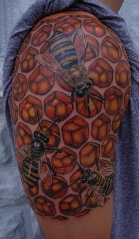 Larry Brogan - Bee Hive Tattoo