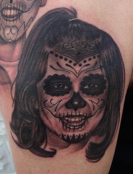 Tattoos - Daughter's Day of the Dead Portrait - 106618