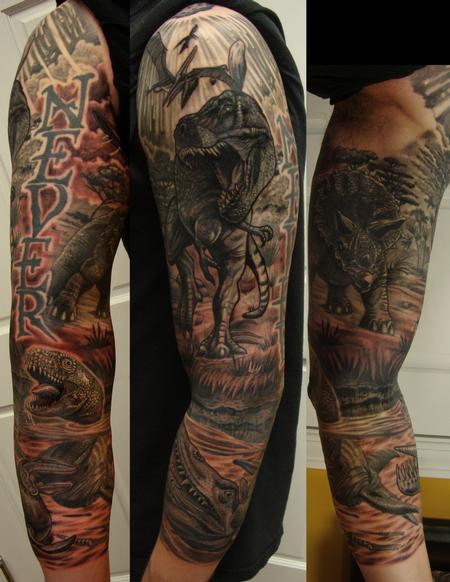 Tattoos - Dinosaur Sleeve - 114044