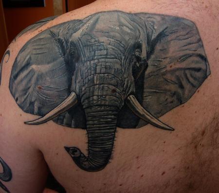 Tattoos - Elephant Portrait - 103804