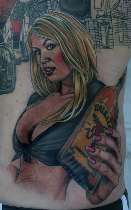 Tattoos - Fireball Whiskey Girl - 114093