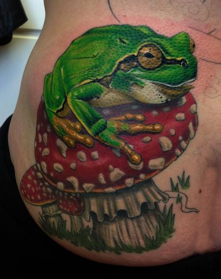 Tattoos - Frog and Amanita Muscaria - 103815