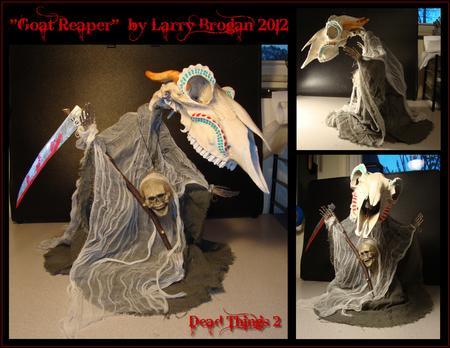 Larry Brogan - Goat Reaper for Dead Things 2 Art Show 2012