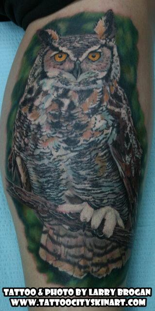 Tattoos - Great Horned Owl - 89407