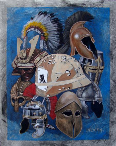 Larry Brogan - Legendary Warriors Oil Painting by Larry Brogan