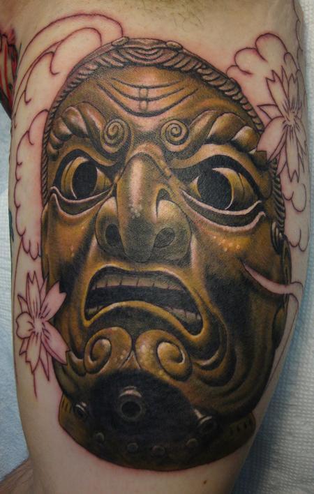 Tattoos - Samuri Mask- In Progress - 94366