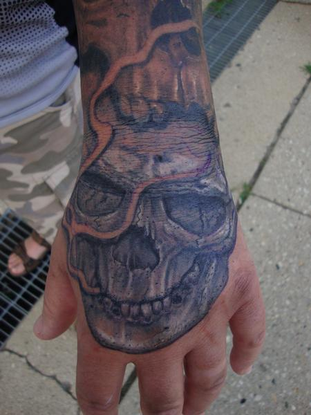 Tattoos - Skully Hand - 122701