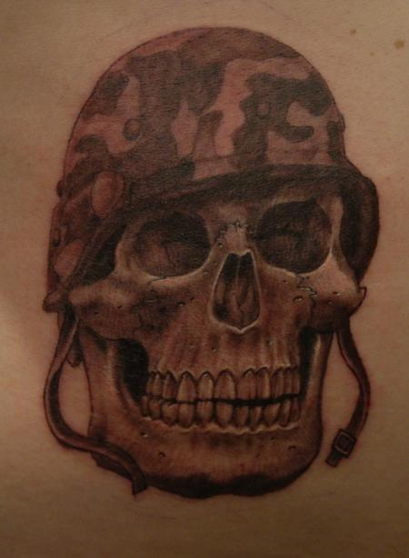 Tattoos - Army Skull - 104121